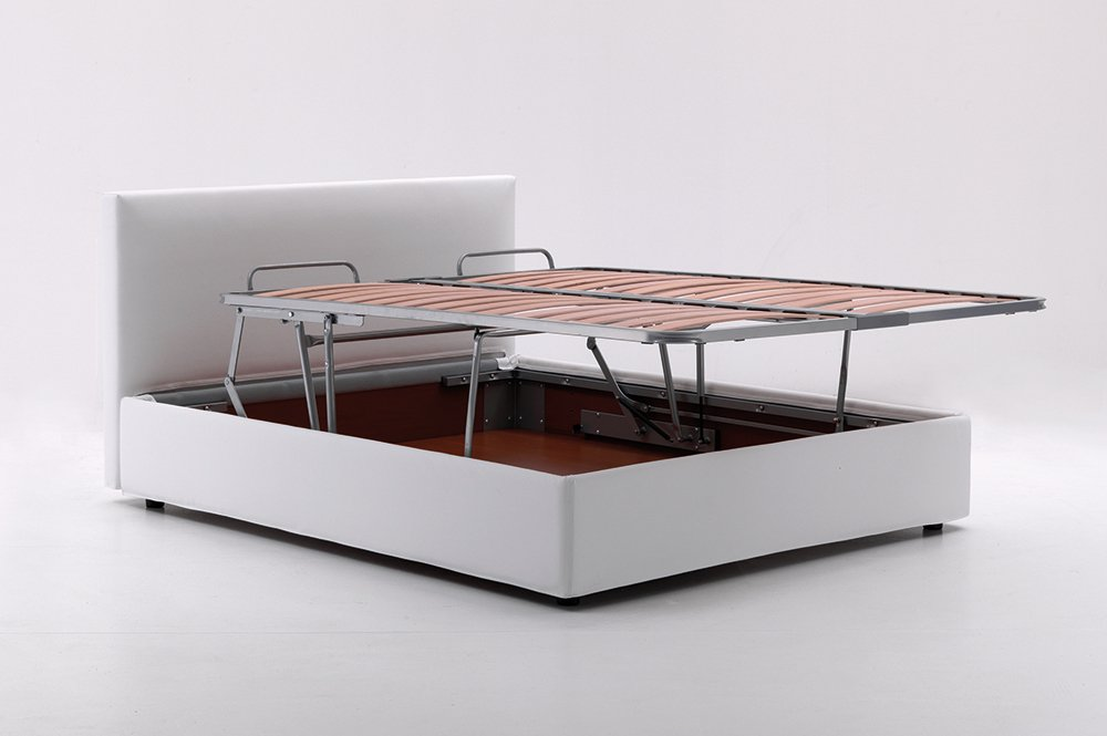 MECHANISM AND MATTRESS SIZE & Platform storage bed with lifting mechanism